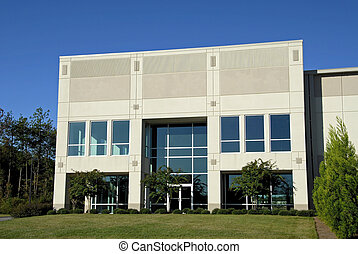 Commercial Office Center - The Front Facade of New...