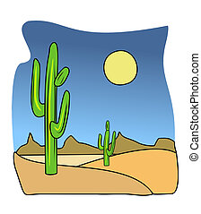 Cactus illustration - An illustration of tall organ pipe...