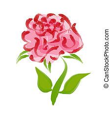 Brush art of Rose