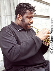 Jazz Musician - Jazz trumpet player performing