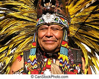 Aztec Tribal Elder - An Aztec Tribal Elder at a pow-wow in...