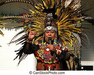 azteca, tribal, anciano