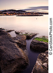 Dawn in Cannes - Image shows an early morning picture of the...
