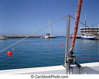 Catamaran BridgetownBarbados; photographed in october 2007...