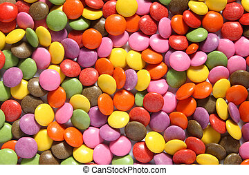 Colorful smarties - Lots of colorful smarties.