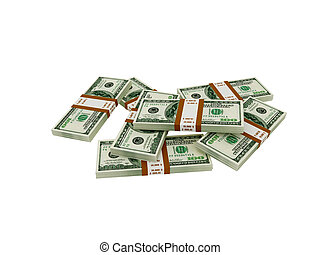 Dollar - High resolution image dollar. 3d illustration over...