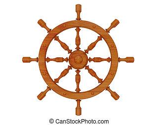 steering wheel - High resolution image steering wheel. 3d...