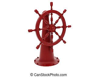 Red steering wheel - High resolution image steering wheel 3d...