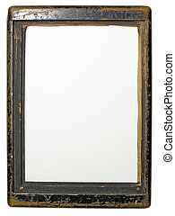 Old wood frame - Retro wood frame of old camera