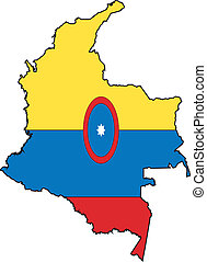 Map Colombia - Map and Flag from Colombia
