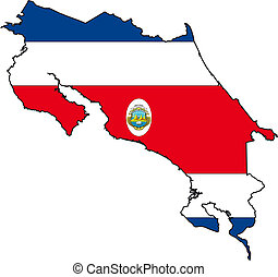 Map Costa Rica - Map and Flag from Costa Rica