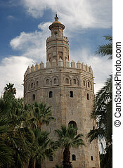 Torre del Oro - the gold tower in Seville, Spain
