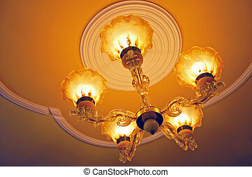Chandelier with lights