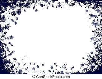 christmas flake border - christmas border themed image with...