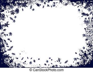 christmas flake border - christmas border themed image with...