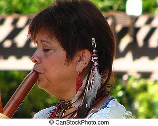 Buffalo Woman flute playe