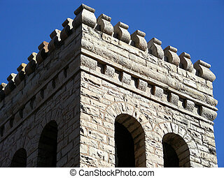 Parapet - Defensive fortification above the stone ramparts...