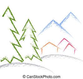 Brush Art Of Winter Lands