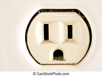 Electrical Outlet - Old-Fashioned, ceramic electrical outlet...