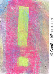 Pastel: Why All the Exclamations - Handmade pastel done by...