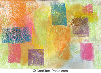 Pastel: Grunge Background - Handmade pastel done by the...