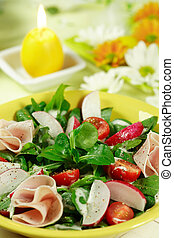 Fresh salad - Fresh spring vegetable salad with low calorie