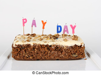 Pay Day Blown Out - A cake celebrating pay day with the...