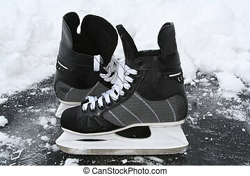 skates on the ice