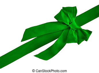 green holiday bow - green holiday ribbon and bow