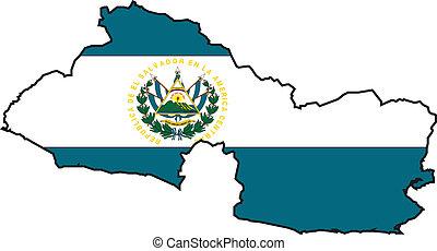 Map El Salvador - Map and Flag from El Salvador