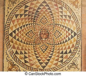 Floor mosaic - An Byzantine floor-mosaic from ancient...