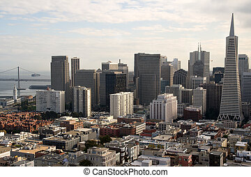 a, fascinante, San, francisco, Skyline