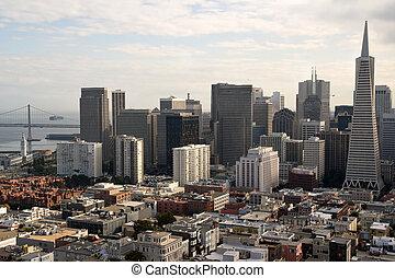 el, fascinante, San, Francisco, contorno