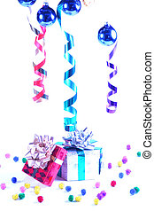 Present at a party - Decorations and gift boxes for...