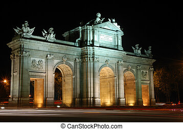 Alcala Arch in Madrid - The famous Alcala Arch in Madrid...
