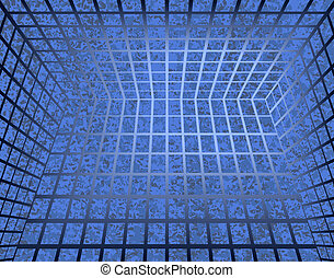 Squares - Abstract background of blue squares