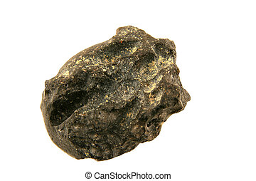 Isolated Stone Meteorite macro