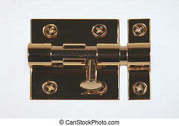 Slip Lock with Deadbolt - Brass Sliplock with the deadbolt...