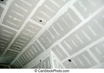 Drywall Finishing - drywall compound on cathedral ceiling...