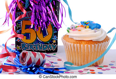 Happy Birthday - Fifty Birthday Celebration Cake With...