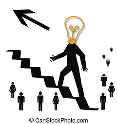 bright idea - taking a bright idea to the top illustration