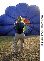 balloonist and balloon