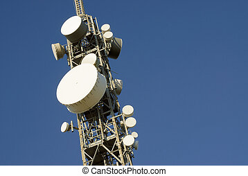 telecommunications tower 3 - telecommunications tower on a...