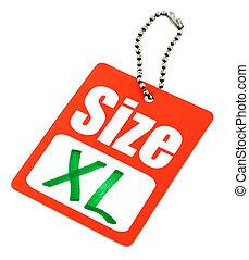 XL Size Tag