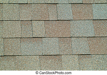 Shingle Background - A close up view of the texture of brown...