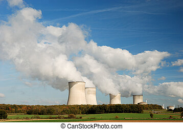 Atomic power plant - Cooling towers of an atomic power...
