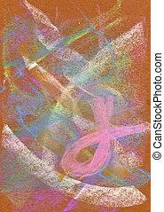 Pastel:, abstratos, fundo, Cor-de-rosa, Fita