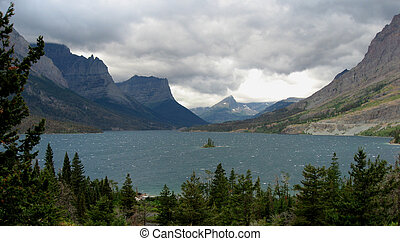Wild Goose Island - Northern Plains Montana Glacier National...