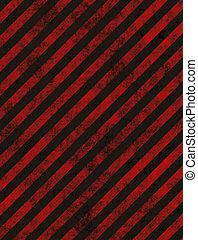 hazard background - grungy red striped hazard background...