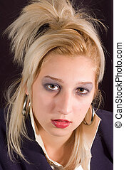Fine portrait - Beauty portrait of young blondie fashion...